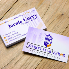No Room For Error_Business Card Design S