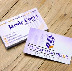 No Room For Error_Business Card Design S