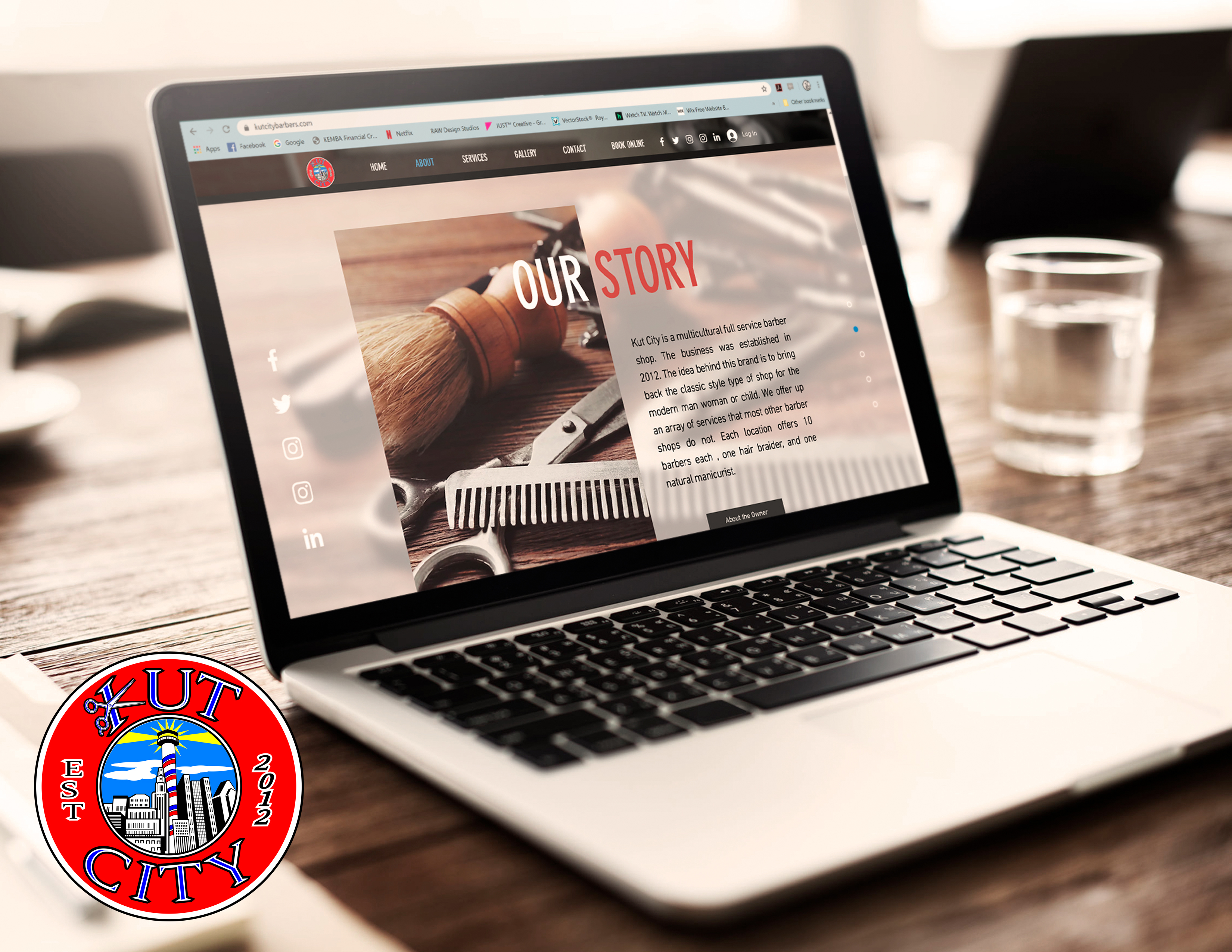 Kut City Barbers Website Mockup