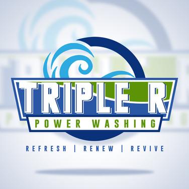 Triple R Power Washing_Logo Design Mocku