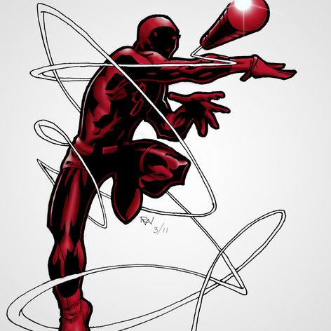 Hand Drawn Daredevil