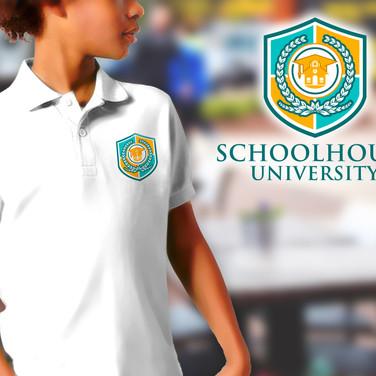 Schoolhouse University Logo Polo Mockup.