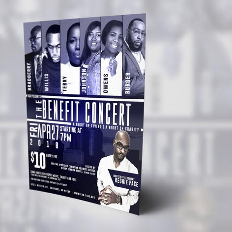 Benefit Concert Mockup