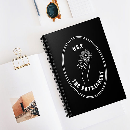 """""""HEX the Patriarchy: Spiral Notebook"""