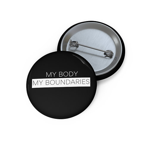My Body My Boundaries Pin Button