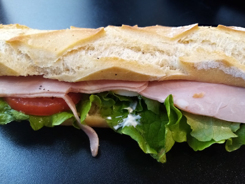 sandwich jambon crudite