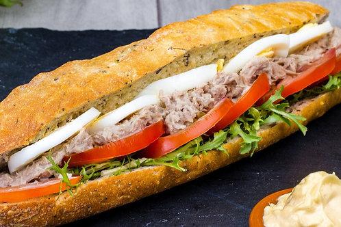 sandwich crudité thon
