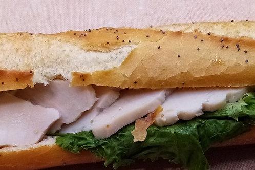 sandwich crudité poulet sauce mayonnaise
