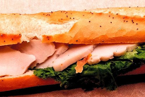 sandwich crudité poulet indien sauce mayonnaise