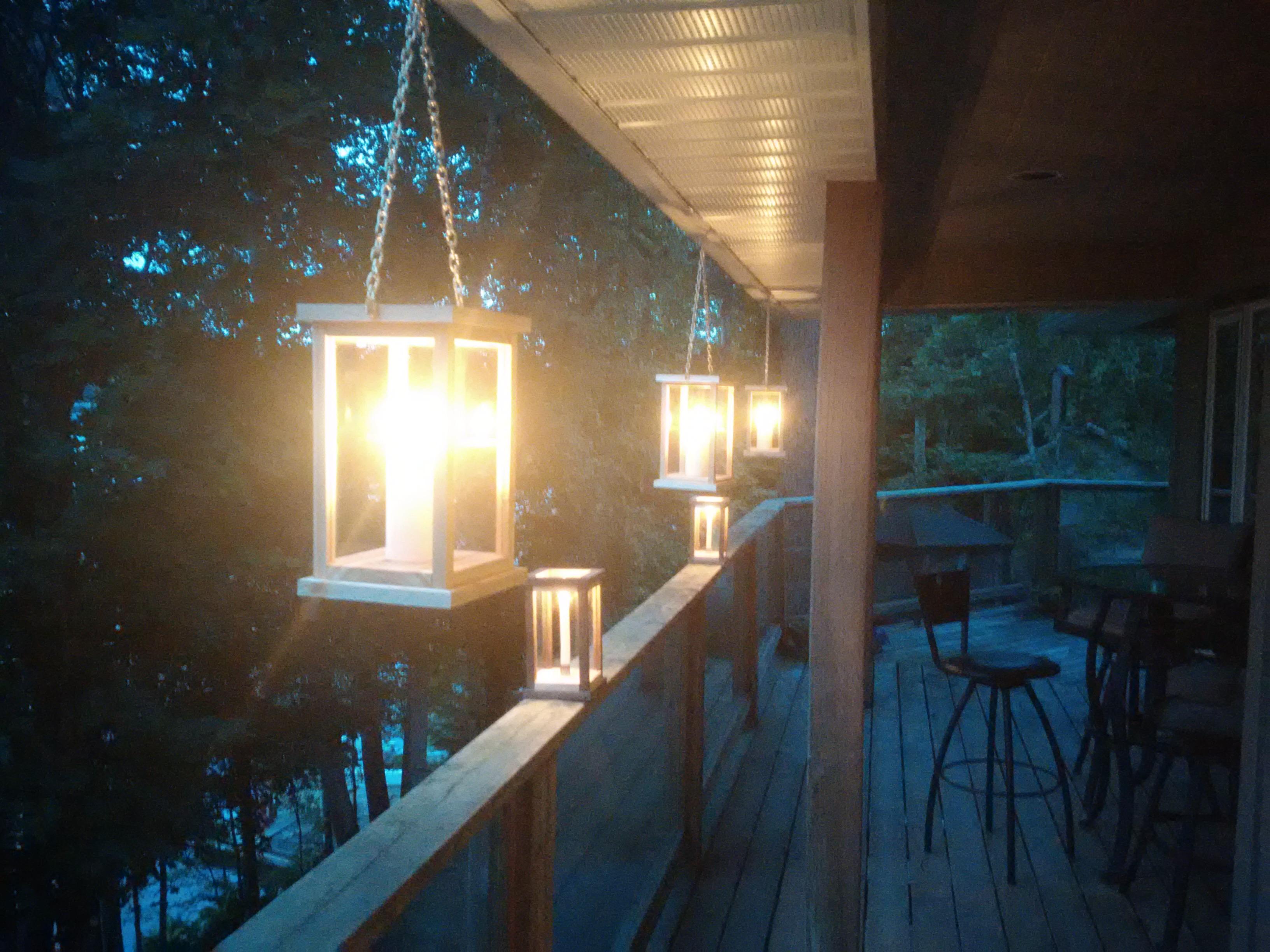 Cedar or Pine Lanterns