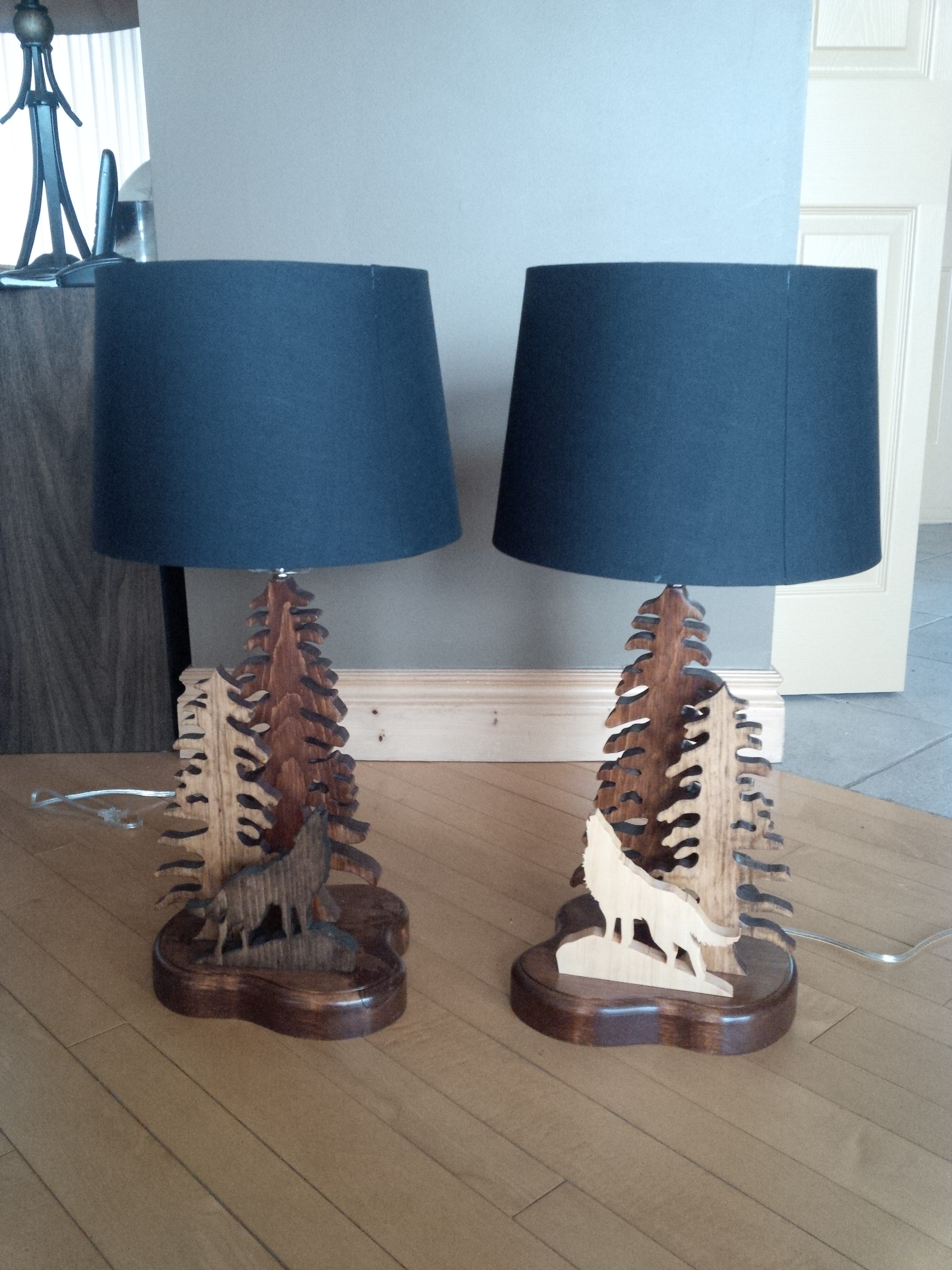 Pine Tree and Animal Lamps