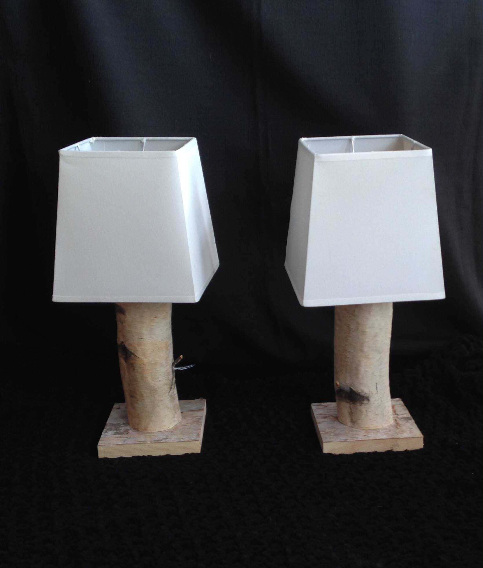 Birch Bedside Lamps