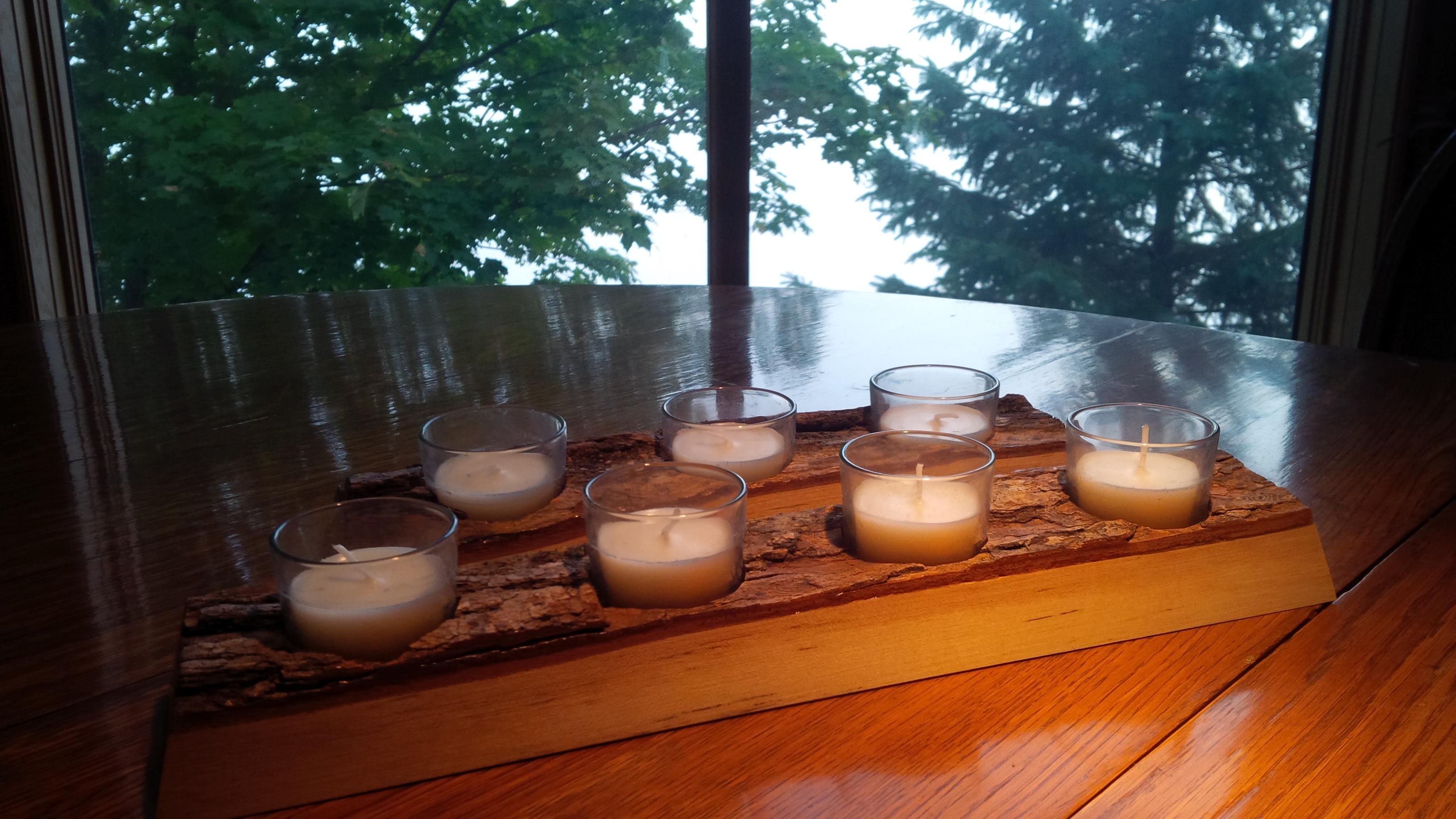 Horizontal Maple Candle Holders