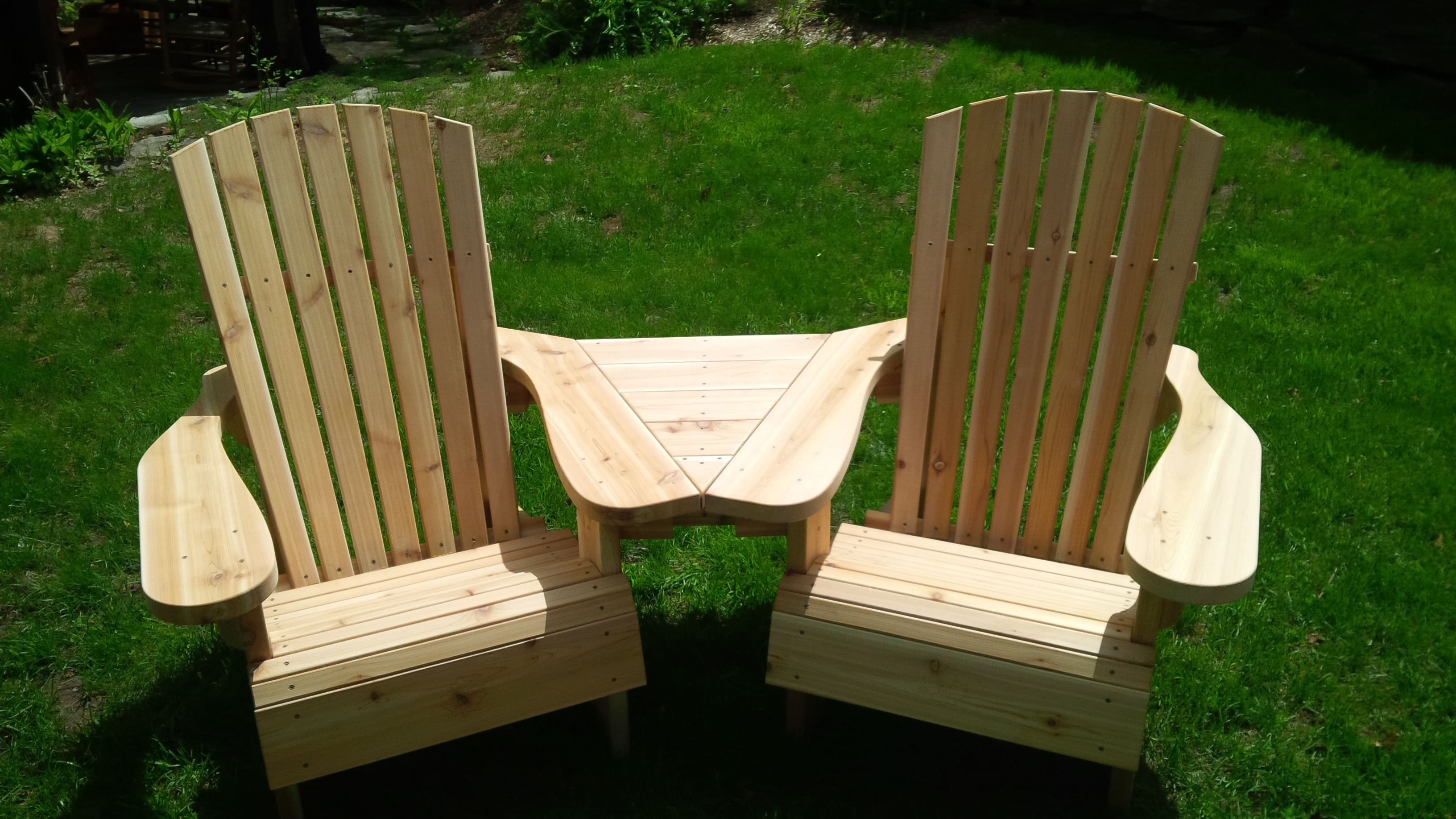 Angled Muskoka Chair/Table Combo