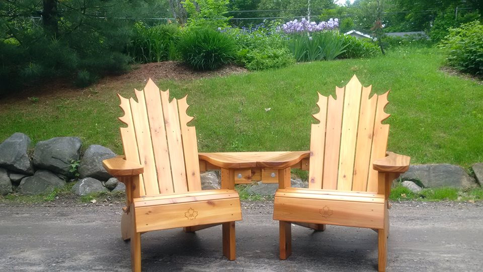 Custom Maple Leaf and Table Combo