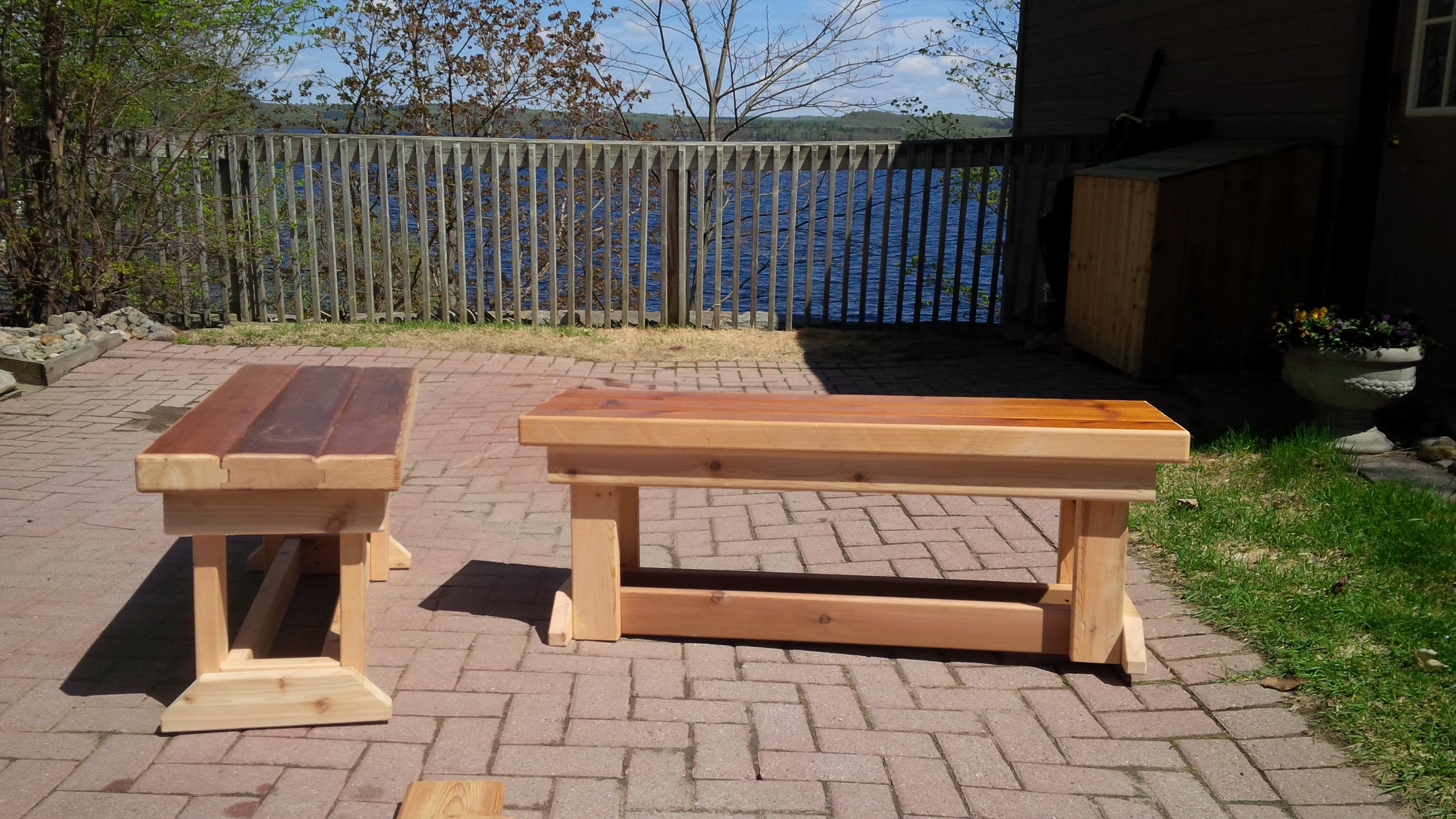 Reclaimed Cedar Benches