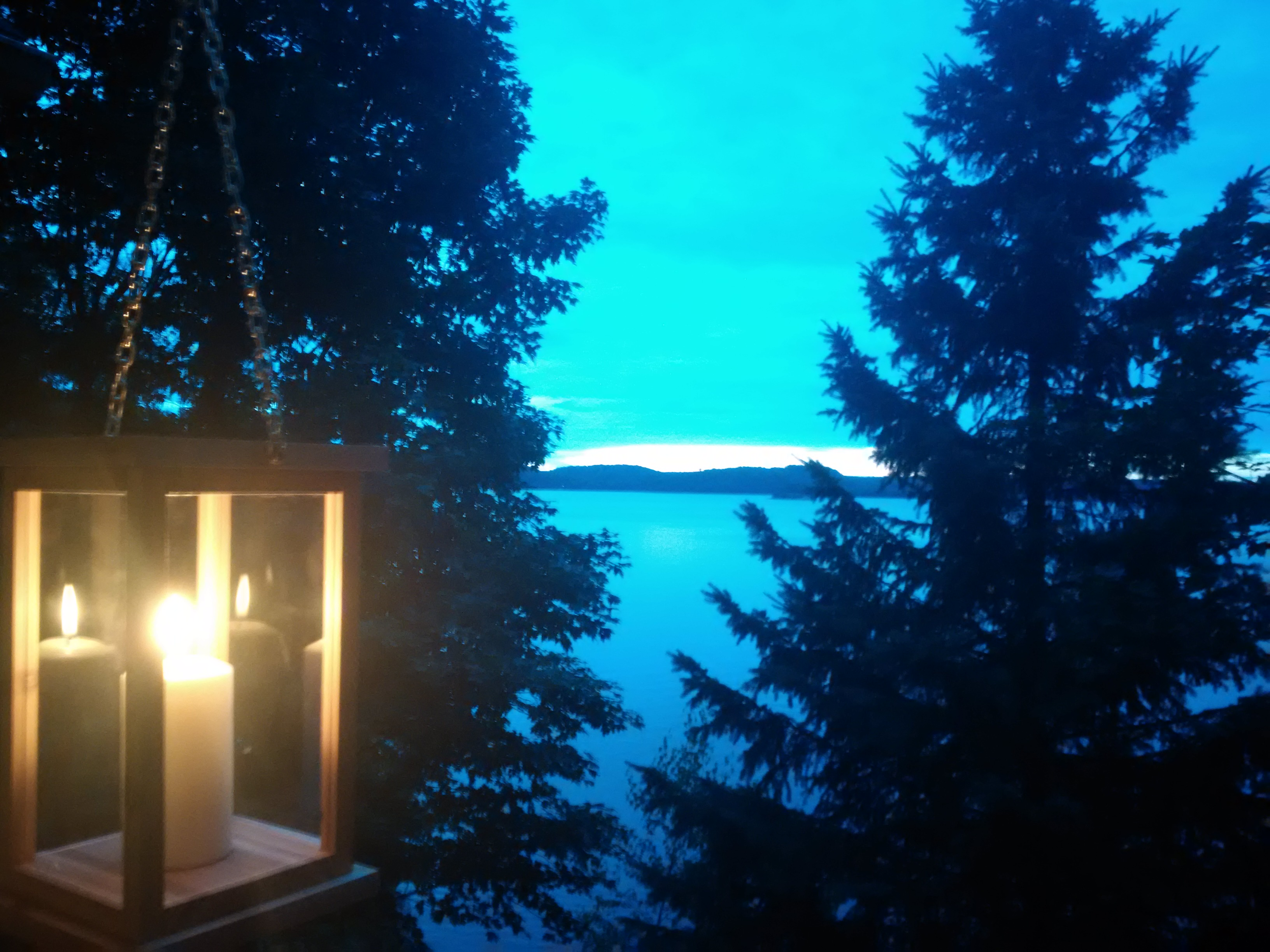 Hanging Cedar Lantern