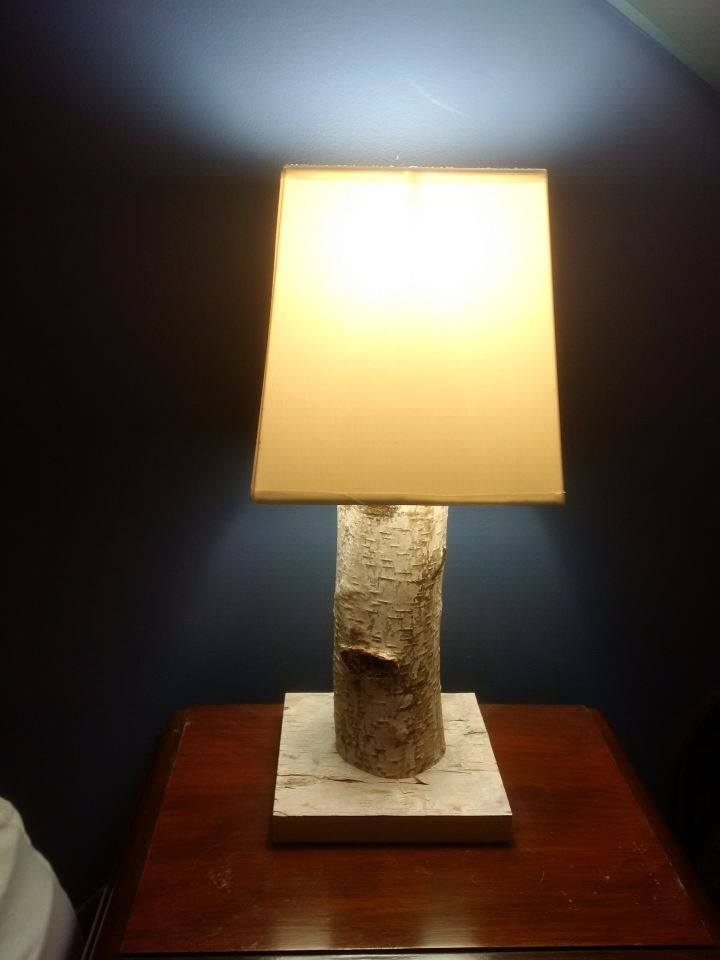 Birch Bedside Lamp