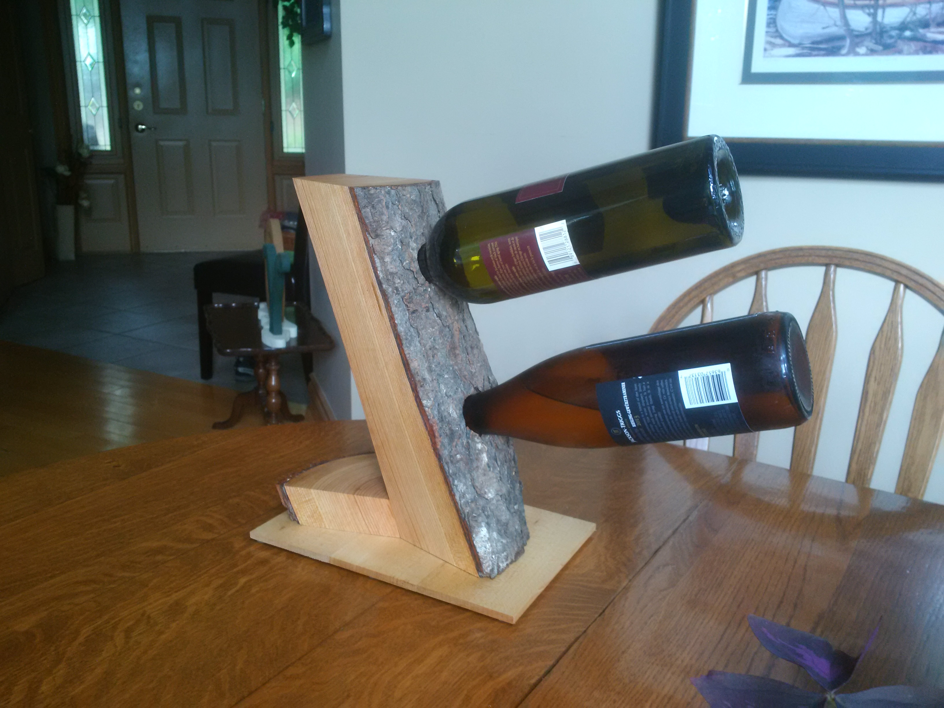 Local Maple Wine Rack