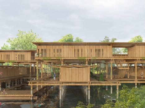 Habitações na Amazônia