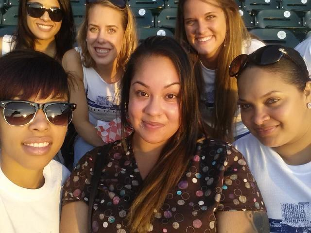 At the Lancaster Barnstormers game!