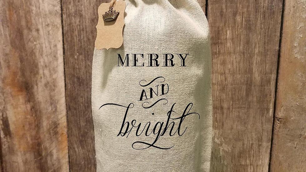 Merry & Bright Wine Bag