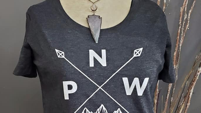 Women's PNW arrow tee