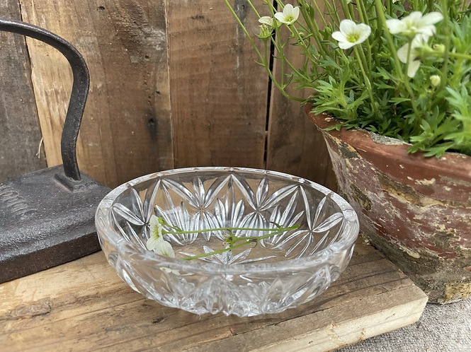 Ovale Glasschale
