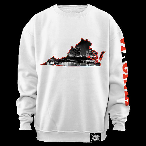 VA Love White Crewneck