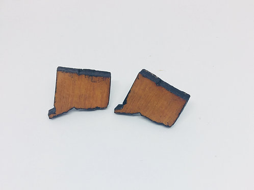 Wooden CT Stud Earrings