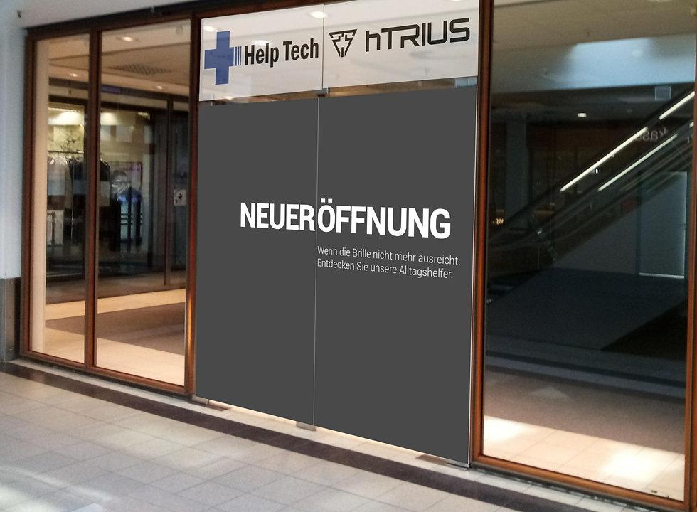Eingang der Help Tech Filiale in Schenefeld