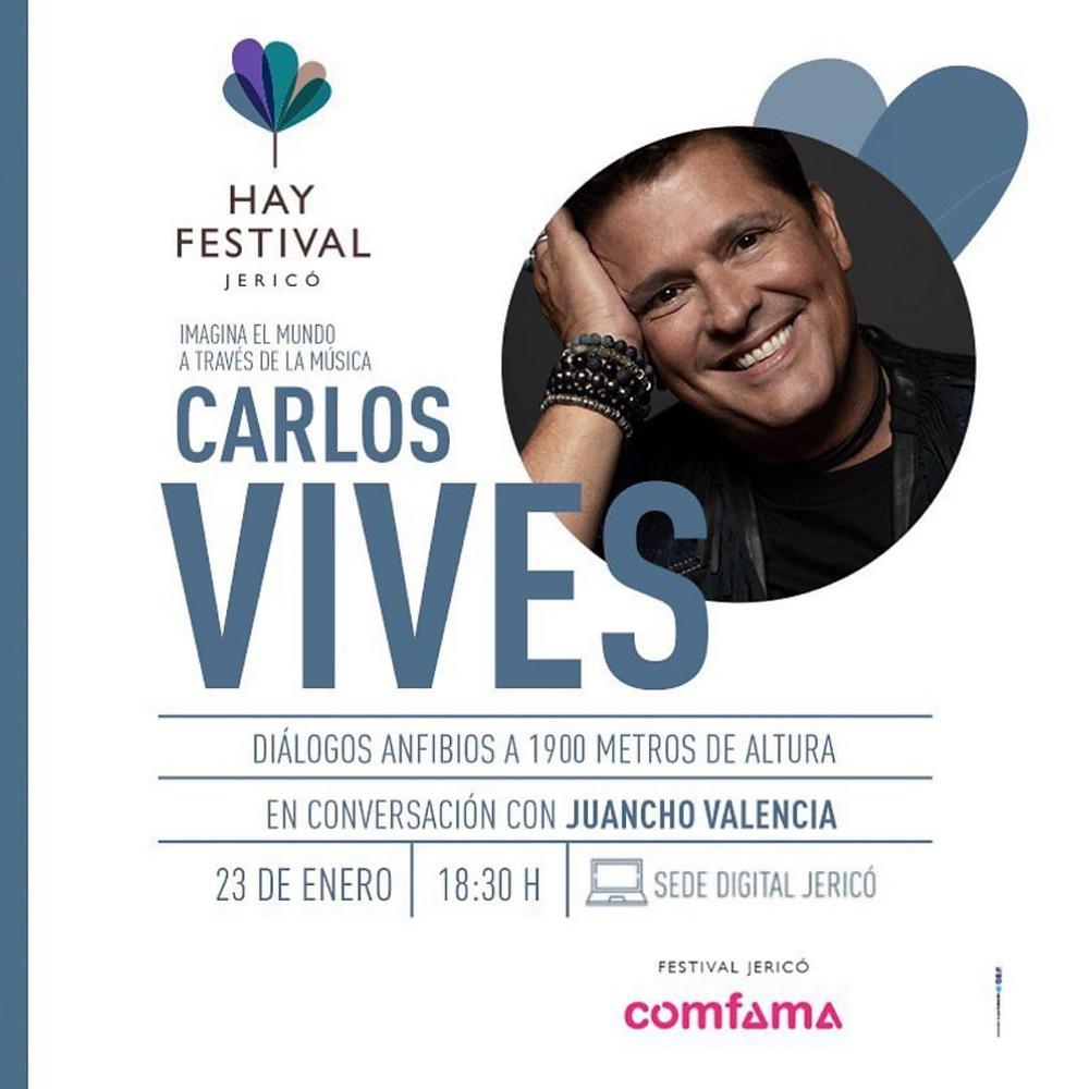Carlos Vives y Juancho Valencia en el Hay Festival Jericó