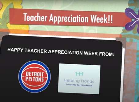 Helping Hands Partner with the Detroit Pistons to Appreciate Teachers