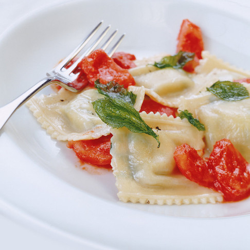 Handmade Cheesy Ravioli by Stacey Antine MS, RDN