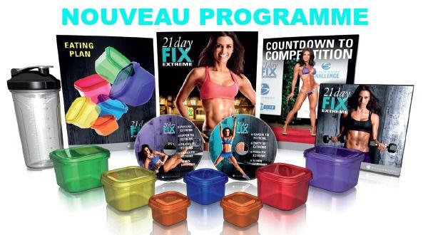 Programme 21 Day fix extreme dvds d,entraînement à la maison