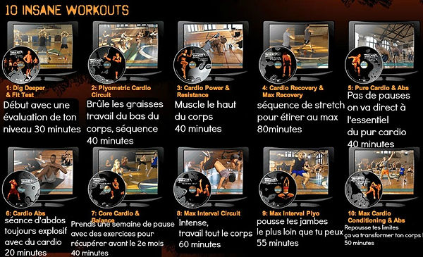 les exercices d'Insanity