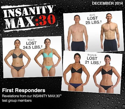 transformations avec Insanity Max 30