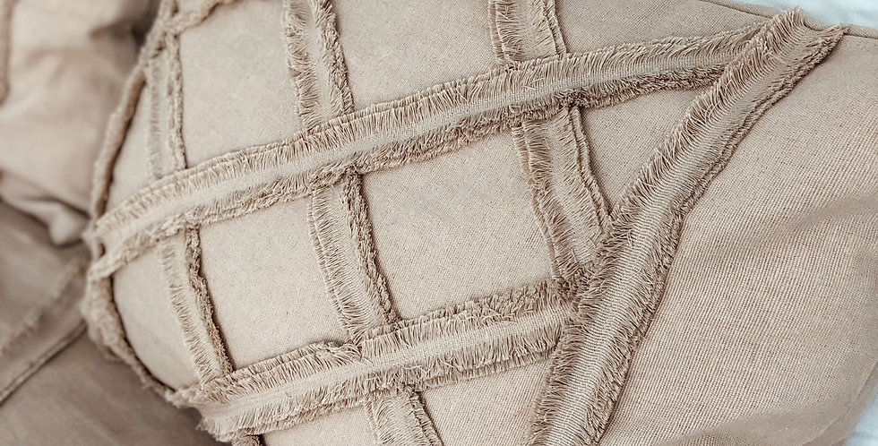 Tufted Pillowcase Covers - Dusty Pink