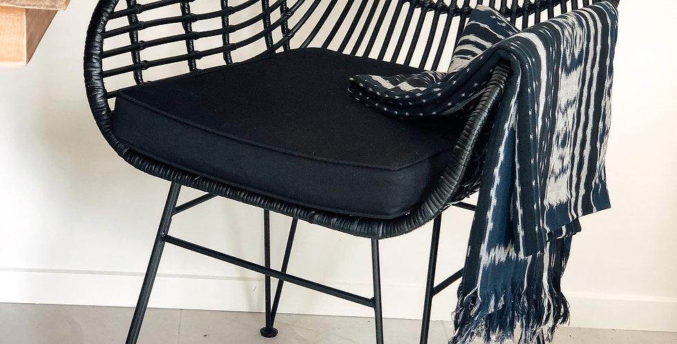 Rattan Chair- Black Dining
