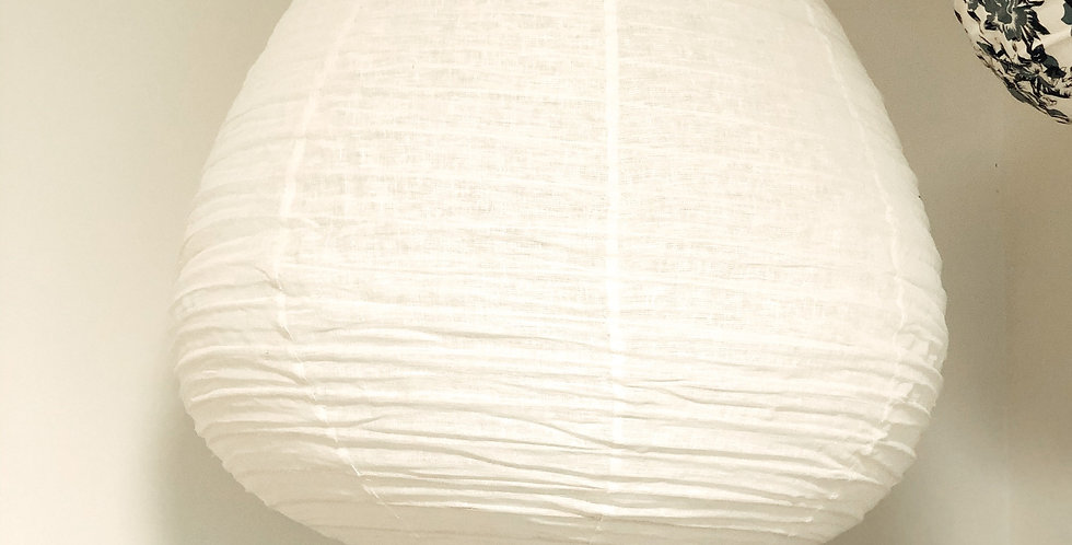 Large Linen Tear Drop Light Shades
