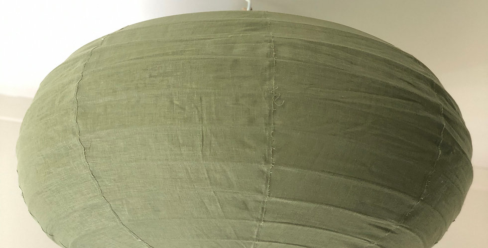 Green Oval Linen Light shade