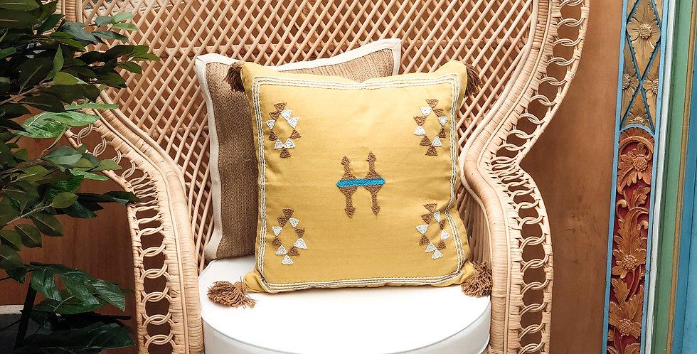 Kamila Cushion Cover - Mustard