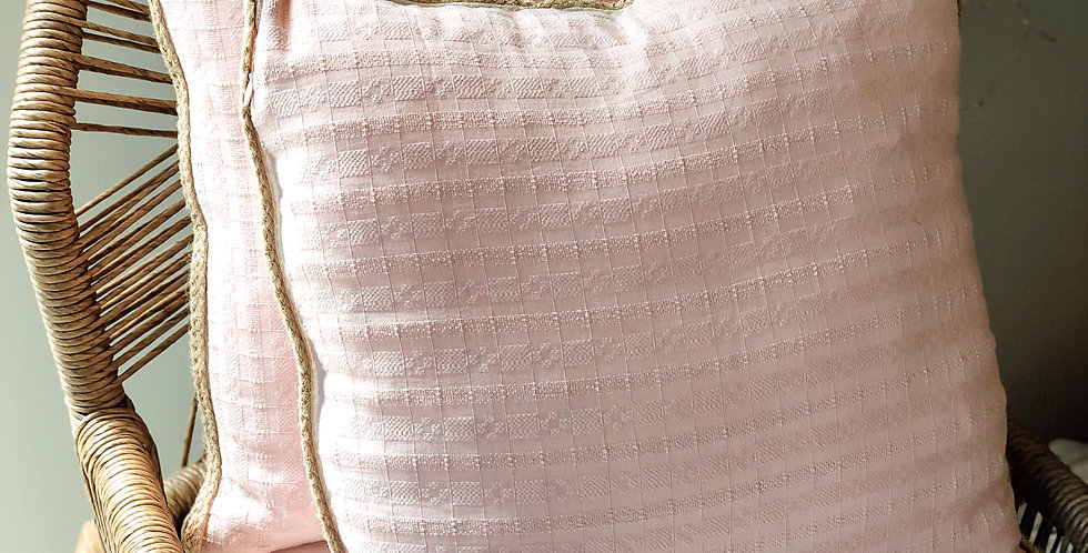 Linen Cushion Cover With Rope Detail