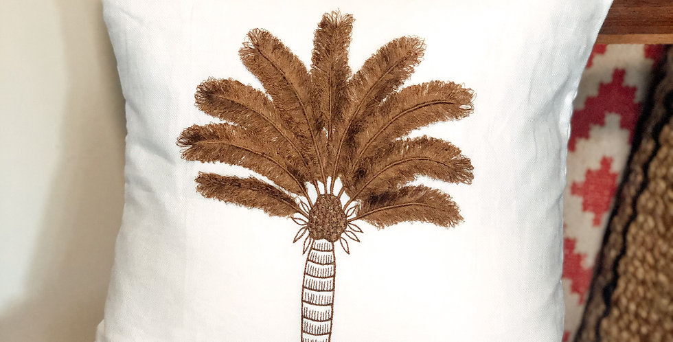 Brown Coco Palm Cushion Cover