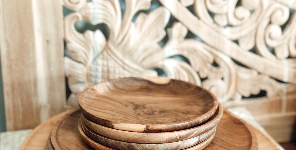 Teak Wooden Plates