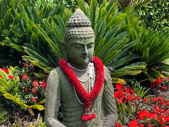 Large Buddha, At The Entrance To Bali Garden