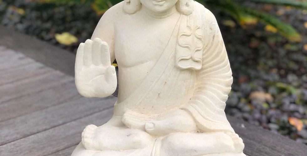 White Cement Buddha