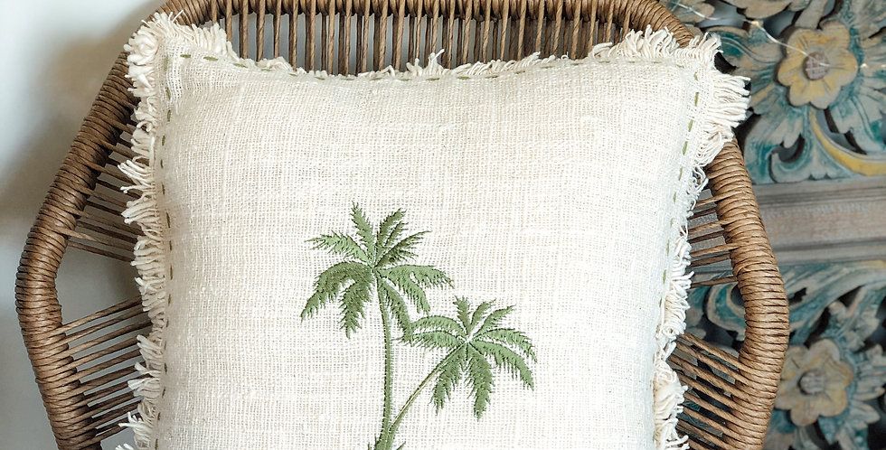Green Soka Palm Cushions