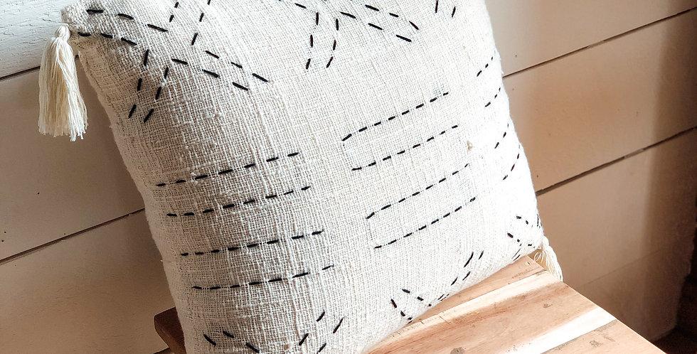 Cushion Cover Black Cross Stitch