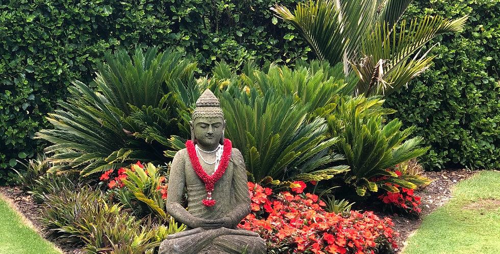 Stone Meditation Buddha